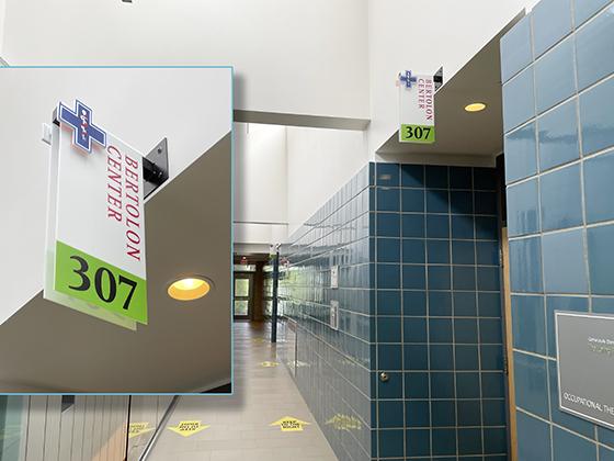 Bertolon simulation health care Center room signage