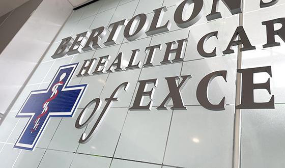 Bertolon simulation health care Center close up of type depths