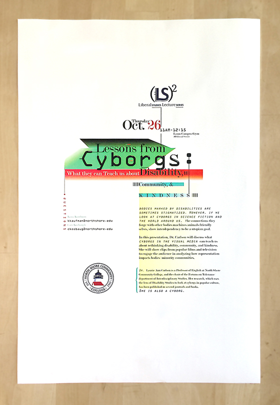 Typographical poster with a unicode type formed in the center with lots of white space.