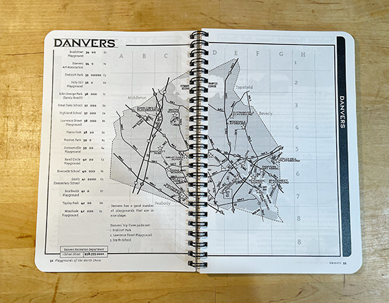 Danvers map of book