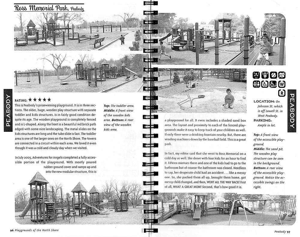 Closer view of Ross Memorial Park page.